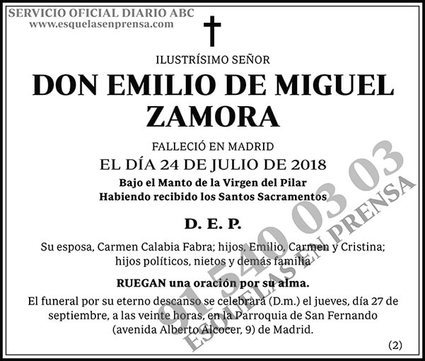 Emilio de Miguel Zamora